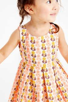 Printed Cotton Prom Dress (3mths-7yrs)