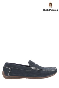 Hush Puppies Blue Roscoe Slip-On Shoes