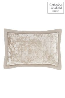 Set of 2 Crushed Velvet Pillowshams by Catherine Lansfield