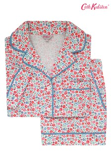 Cath Kidston® Cream Ashbourne Ditsy Jersey Pyjama Set