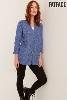 FatFace Blue Thandie Daisy Ditsy Longline Top