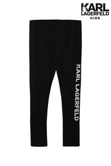 Karl Lagerfeld Black Side Logo Leggings