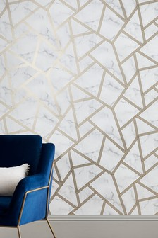 Paste the Wall Marble Geo Wallpaper