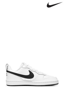 Nike White/Black Court Borough Youth Trainers