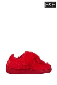 F&F Red Monster Cupsole Slippers