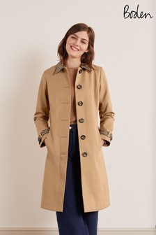 Boden Brown Mark Trench Coat