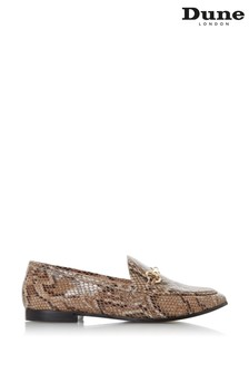 Dune London Guiltt Reptile Leather Snaffle Trim Loafers