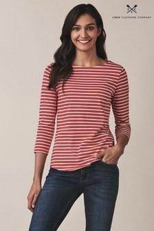 Crew Clothing Red Essential Breton T-Shirt