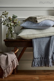 Murmur Hand Woven Linen And Cotton Grain Throw