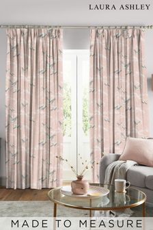 Laura Ashley Blush Animalia Made to Measure Curtains