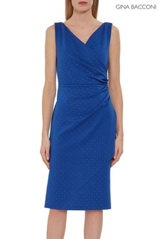 Gina Bacconi Tessie Stud  Wrap Dress