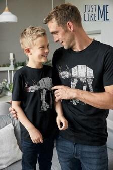 Matching Kids & Dads Mens Christmas Star Wars™ T-Shirt