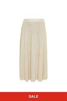 Emporio Armani Girls Gold Skirt