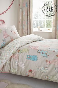 Cheeky Cats Kid's Duvet Cover and Pillowcase Set by Bedlam