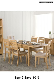 Kemble Curve Set of 2 Dining Chairs by Julian Bowen