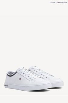 Tommy Hilfiger White Corporate Lea Tommy Hilfiger Trainers