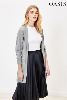 Oasis Grey Open Front Cardigan