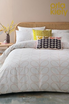 Orla Kiely Exclusive To Next Cotton Linear Stem Duvet Cover and Pillowcase Set