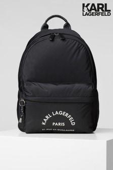 Karl Lagerfeld Black Nylon Backpack