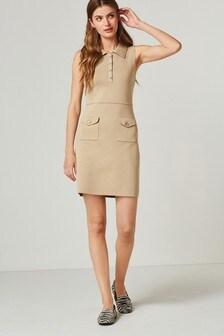 Polo Collar Utility Detail Dress