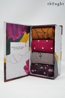 Thought Purple Botanic Sock Box Four Pack