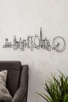 London Skyline Wire Plaque