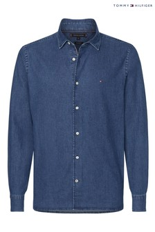 Tommy Hilfiger Blue Flex Chambray Shirt