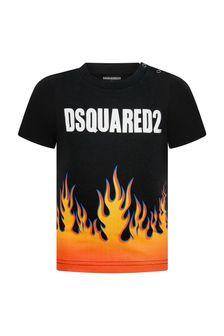 Dsquared2 Kids Baby Boys Black Cotton T-Shirt