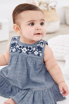 Embroidery Detailed Tunic and Bloomer Set (0mths-2yrs)