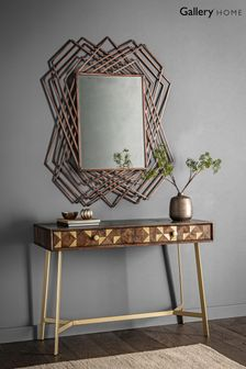 Spector Abstract Bronze Mirror by Gallery Direct
