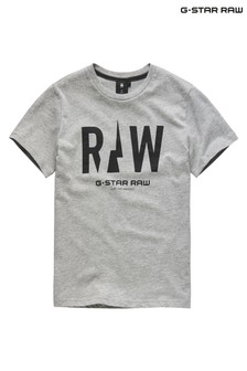 G-Star Grey Logo T-Shirt