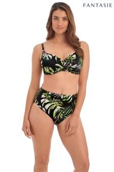 Fantasie Black Palm Valley High Waist Bikini Briefs