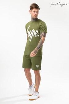 Hype. Khaki Script Mens Shorts