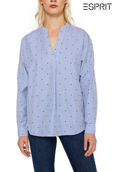 Esprit Blue Stripe Long Sleeve Shirt