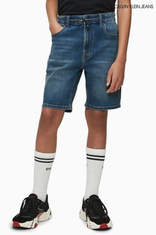 Calvin Klein Blue Tapered Denim Shorts