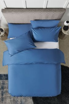 Blue Easy Care Polycotton Bed Set