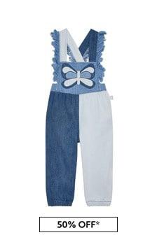 Stella McCartney Kids Baby Girls Blue Cotton Jumpsuit