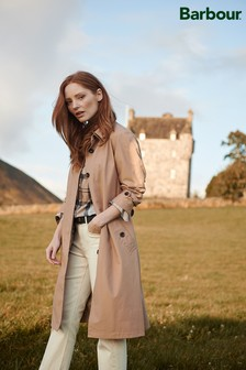 Barbour® Tartan Beige Waterproof Trench Coat