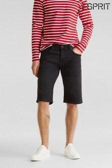 Esprit Black Straight Fit Denim Shorts