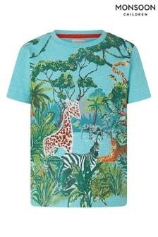 Monsoon Blue Basil Jungle Scene T-Shirt