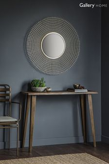 Stafford Gold Round Mesh Mirror by Gallery Direct
