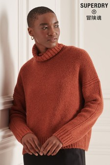 Superdry Womens Studios Chunky Roll Neck Jumper