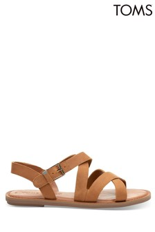 TOMS Tan Leather Sicily Sandals