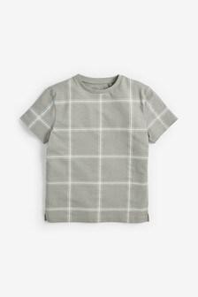 Windowpane Check T-Shirt (3-16yrs)