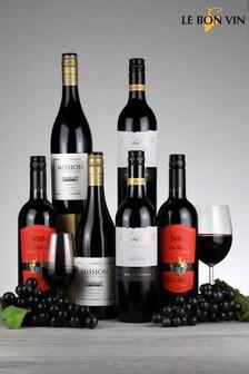 Set of 6 World Shiraz Red Wine Selection by Le Bon Vin