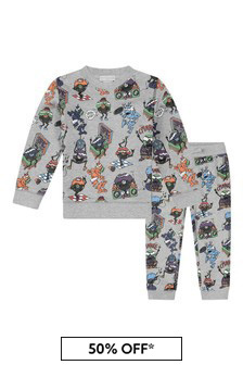 Boys Grey Music Monsters Tracksuit