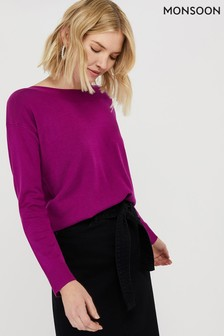 Monsoon Ladies Purple Brigette Jumper
