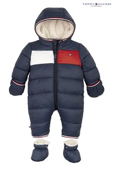 Tommy Hilfiger Blue Baby Flag Ski Suit