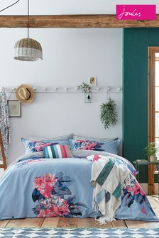 Joules Cornish Floral Cotton Duvet Cover and Pillowcase Set