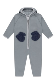 Baby Grey Fleece & Soft Shell Coverall